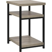 Dorel Elmwood Industrial End Table, Sonoma Oak/Black