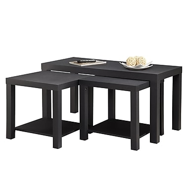 Dorel Parsons Table Bundle, Black