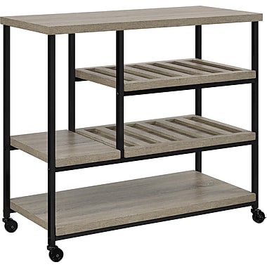 Dorel Elmwood Industrial Kitchen Cart, Sonoma Oak/Black