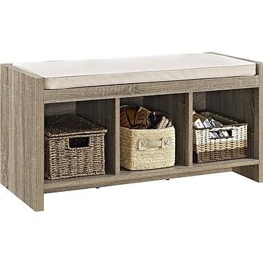 Dorel Entry Storage Bench with Cushion, Sonoma Oak