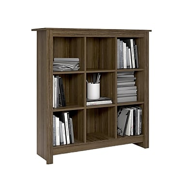 Dorel 9-Cube Storage, Rustic Medium Oak