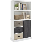 Dorel Mercer Storage Bookcase, White