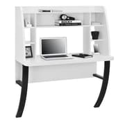 Dorel Wall Mounted Desk with Metal Legs, White