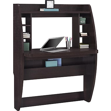 Dorel Wall Mounting Desk, Espresso