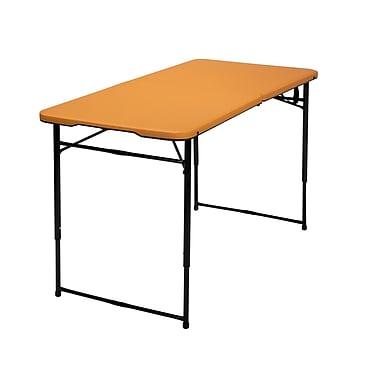 Cosco – Table de 4 pi pliante, orange