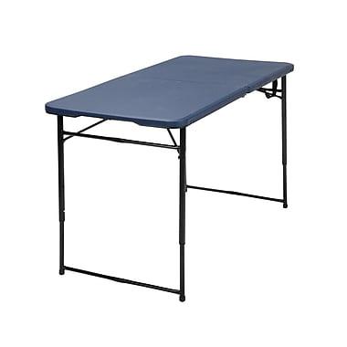 Cosco – Table de 4 pi pliante, bleu foncé