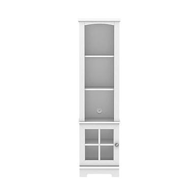 Homestar - Bibliothèque/Tour de rangement multimédia Zarate, blanc (Z160092W)