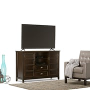Simpli Home Burlington Tall Wooden TV Stand, Espresso Brown