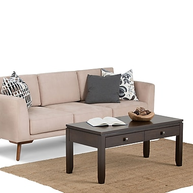 Simpli Home Cosmopolitan Wood Coffee Table, Brown, Each (AXCCOSCOFICF)