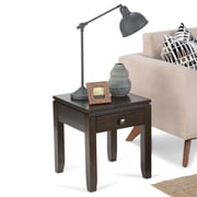 "Simpli Home Cosmopolitan 20""H x 20""W x 18 1/2""L Solid Wood End Table; Coffee Brown"