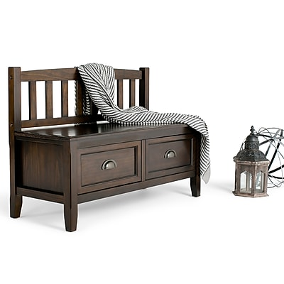 Captivating Simpli Home Burlington Soild Wood Entryway Storage Bench; Espresso Brown.  Rollover Image To Zoom In. Https://www.staples 3p.com/s7/is/