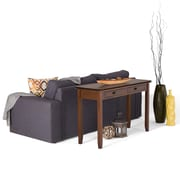 "Simpli Home Artisan 29 1/2""H x 45""W x 16 1/2""L Solid Wood Console Table; Medium Auburn Brown Stain"