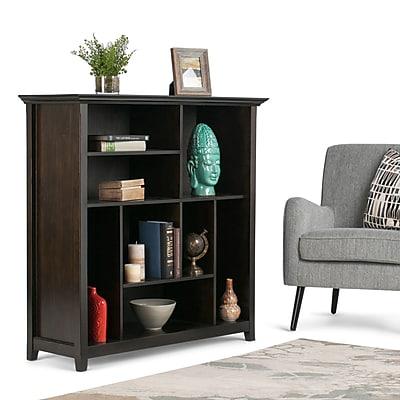 Simpli Home Amherst Multi Cube Storage Bookcase, Dark American Brown