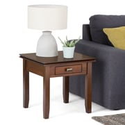 "Simpli Home Artisan 20""H x 20 1/2""W x 20 1/2""L Solid Wood End Table; Medium Auburn"