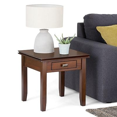 Simpli Home Artisan Metal End Table, Medium Wood, Each (AXCHOL002)