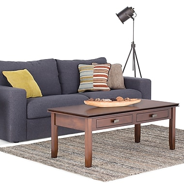 Simpli Home Artisan Metal Coffee Table, Medium Wood, Each (AXCHOL001)
