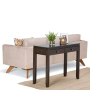 "Simpli Home Cosmopolitan 29 1/2""H x 38""W x 15""L Solid Wood Console Table; Coffee Brown"