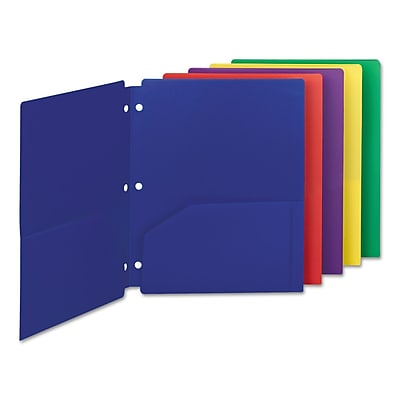 Smead® Campus.org® Poly Snap-In Two-Pocket Folder, 11 x 8 1/2, Assorted, 10/Pack (87939)