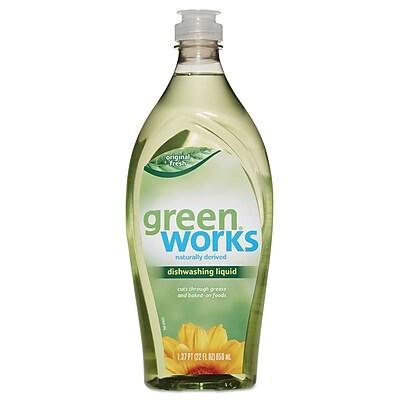 Green Works® Dishwashing Liquid, 22 oz, Original Fresh, Each (31207EA)