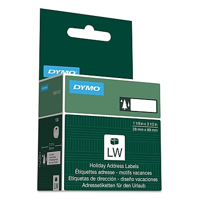 DYMO® Holiday Labels, 1 1/8