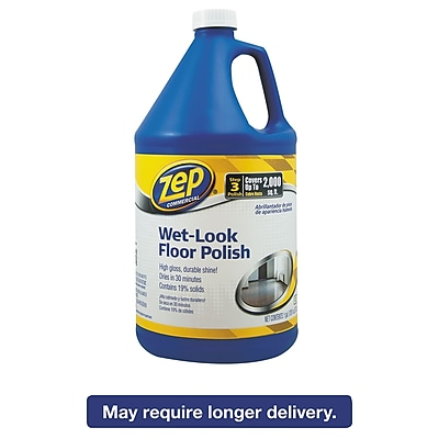 Zep Commercial® Wet Look Floor Polish, Mild Ammoniacal, 128 oz, Each (1044898)