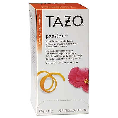 Tazo® Tea Bags, Passion®, 2.1 oz Filterbag, 24/Box (149903)