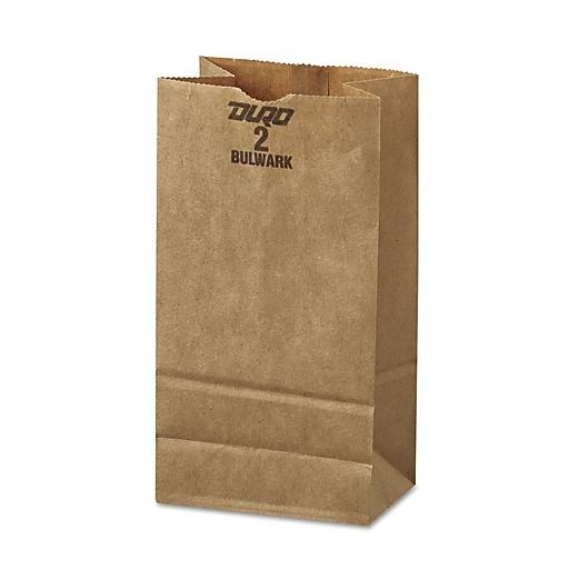 General #2 Paper Grocery, 52lb Kraft, Extra-Heavy-Duty 4 5/16x2 7/16 X7 7/8, 500 Bags