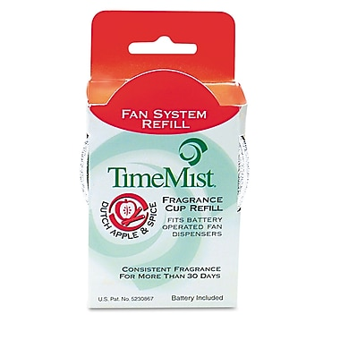 TimeMist® Fan Fragrance Cup Refills, 1 oz, Dutch Apple & Spice, 12/Carton (1043715)