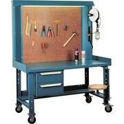 Kleton – Poste de travail Maxi-Bench, 30 x 60 x 70 (po), acier/bois