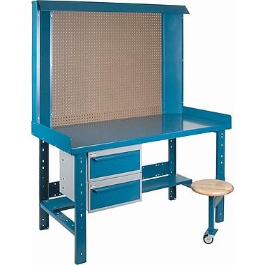 Kleton – Poste de travail Maxi-Bench, 30 x 30 x 76 (po), acier/bois