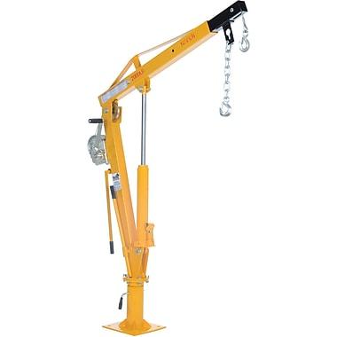 Vestil – Grue à flèche actionnée par treuil pour camion, 1000 lb (0,5 tonne), chaîne en acier, 44 po (WTJ-4)