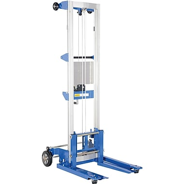 Vestil Winch-Operated Fork Lift Stacker, Straddle Design, 143