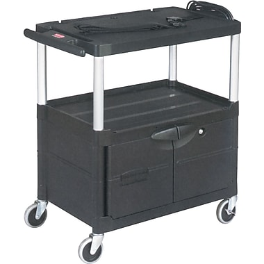 Rubbermaid – Chariot audiovisuel Media Master de 42 po, 150 lb (FG9T3200BLA)
