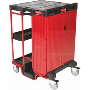 Rubbermaid Ladder Carts With Lockable Cabinet (FG9T5800BLA)