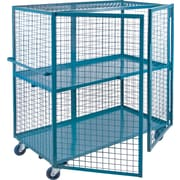 "Kleton Wire Mesh Truck, 2-Shelf, 24"" x 48"", Steel (ML245)"