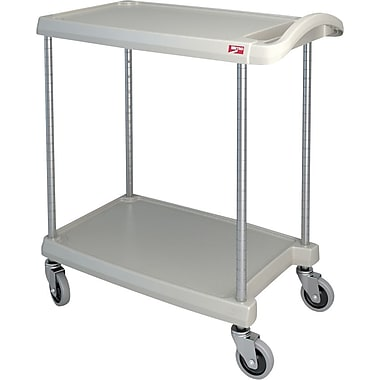 Mycart Utility Cart, 300 Lbs, 2-Shelf, 16