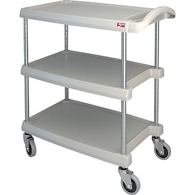 Mycart – Chariot utilitaire, 400 lb, 3 tablettes, 16 x 35 1/2 po (MY1627-34BL)