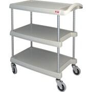 "Mycart Utility Cart, 400 Lbs, 3-Shelf, 16"" x 35-1/2"" (MY1627-34BL)"