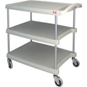 Mycart – Chariot utilitaire, 400 lb, 3 tablettes, 20 x 35 1/2 po (MY2030-34BL)