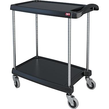Mycart – Chariot utilitaire, 300 lb, 2 tablettes, 16 x 35 1/2 po (MY1627-24BL)