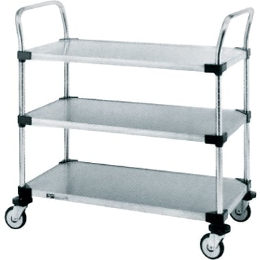 Stainless Steel Standard-Duty Utility Cart, 3-Shelf, 24