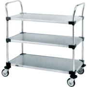 """Stainless Steel Standard-Duty Utility Cart, 3-Shelf, 18"""" x 39""""(MW204)"""