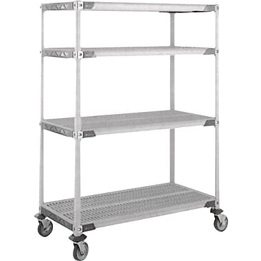 Metromax I Stem Caster Carts, 4-Shelf, 36