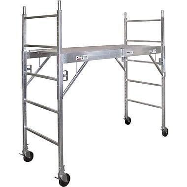 Metaltech – Échafaudage mobile, aluminium, 75 po x 74 po (CAISC)