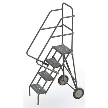 Tri-Arc Roll & Fold Rolling Ladder, 4 Step, 40