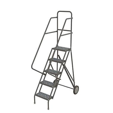 Tri-Arc Roll & Fold Rolling Ladder, 5 Step, 50