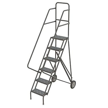 Tri-Arc Roll & Fold Rolling Ladder, 6 Step, 66