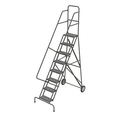 Tri-Arc - Échelle roulante pliable Roll and Fold, 8 marches, 86 po de haut, perforée