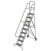 "Tri-Arc Roll & Fold Rolling Ladder, 9 Step, 96"" Height"