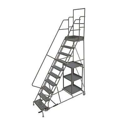 Tri-Arc – Échelle roulante pour la cueillette de marchandise, 24 x 100 po, 10 paliers, à perforations (KDSP110246)
